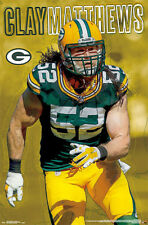 New CLAY MATTHEWS INTENSITY Green Bay Packers NFL Football Official WALL POSTER