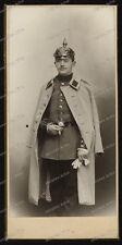 CDV-Atelier studio-Portrait-Pickelhaube-Militär-uniform-mantel-Kaiserreich-