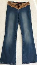 """Windsor Laced-Up Waist Women's Jeans Boot Cut size 5 Waist 29"""" Inseam 31"""""""