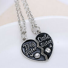 Sister's Fashion Broken Heart Pendant Necklace Popular d