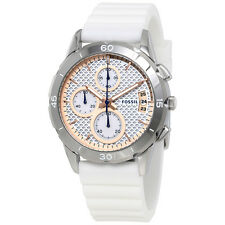 Fossil Modern Pursuit Chronograph White Silicone Band  Ladies Watch ES4024