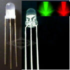 New LED 3-Pin 5mm Red&Green Common Cathode LED Light Lamp Emitting Diode
