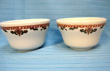 Sterling China Bowls Vitrified Liverpool USA Restaurant Ware Lot of 2