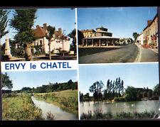ERVY-le-CHATEL (10) HALLE au Marché , MAIRIE , ETANG en 1976