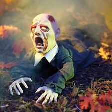 Gruesome Animated Sound Ground Breaker Zombie Halloween Prop WATCH Video In Hand