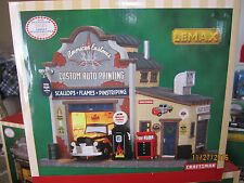 "TRAIN GARDEN VILLAGE HOUSE "" AMERICAN CUSTOM PAINTING SHOP "" +DEPT 56/LEMAX info"