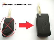 2 BUTTON FLIP KEY CASE UPGRADE FOR CITROEN SAXO BERLINGO XSARA PICASSO REMOTE