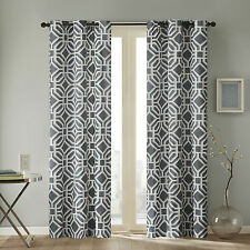 Maci Single Curtain Panel - Grey - by Intelligent Design -NEW