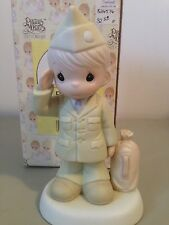 PRECIOUS MOMENT FIGURINE - BLESS THOSE WHO SERVE THEIR COUNTRY - 526576  -  ARMY