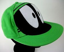 "MARVIN the MARTIAN Felt""EYES""Green Baseball Hat S/M 14& Older GRAPHIC UNDER BILL"