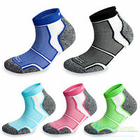 2 Pairs More Mile Cushioned COOLMAX Sports Running Socks Mens Ladies Womens Pack