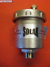 """1 Stück Solarentlüfter Solar Entlüfter 3/8"""" Schnellentlüfter 10bar 180°C"""