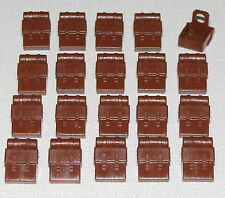 Lego Lot of 20 Reddish Brown Minifig Backpacks Non-Opening Parts
