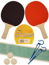 NEW TABLE TENNIS 2 PLAYER  PING PONG SET INCLUDES 3 BALL TWO PADDLE BATS GAME UK