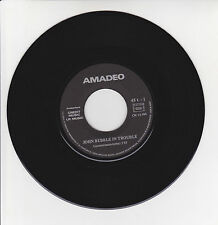 "AMADEO Vinyl 45T 7"" JOHN BUBBLE IN TROUBLE - FREEDOM FOR EVER -CREDIT MUSIC RARE"
