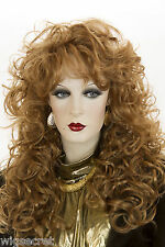 Strawberry Blonde Red Long Wavy Curly Wigs