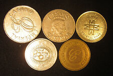 5 Different Casino Tokens from Northern Cyprus