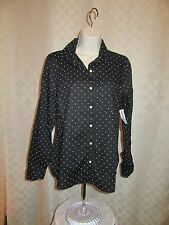 Long Sleeve Full Button front  Shirt Blouses Old Navy All Reg,Size Multi Color N