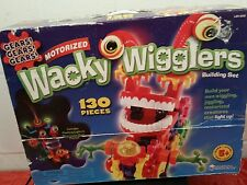 GEARS, GEARS, GEARS MOTORIZED WACKY WIGGLERS PARTS AND PIECES 110 PIECES TOTAL