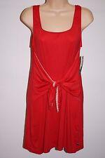 NWT Tommy Hilfiger Swimwear Bikini Cover up Dress Sz L Tomato
