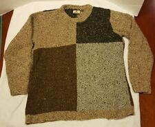 Carraig Donn 100% Pure Wool Hand Knit Sweater Made in IReland Men's Sz. XL