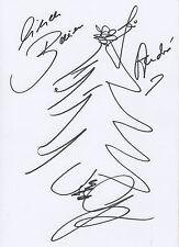 Guido Maria Kretschmer Zeichnung mit Autogramm signed A4 Karteikarte