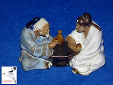 Chinese Mudman Figurine 'Sake Drinking Match' Oriental Ornament  No.16 (or91)