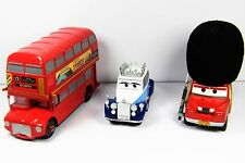Disney Pixar Cars 2 London Calling Die Cast lot Queen sir Topper Sgt. Highgear