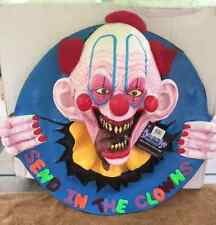 Halloween Scary SEND IN THE CLOWNS Wall Plaque Prop Haunted House NEW