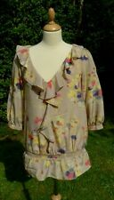 Monsoon patterned top size 10