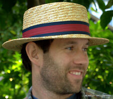 NEW Straw Boater Hat for Men & Women Classic Skimmer Barbershop Quartet Election