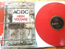 "AC/DC HIGH VOLTAGE RED VINYL 12"" SIZE"