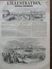 L'ILLUSTRATION 1851 N 450 COURSES EXECUTEES PAR LES ARABES DEVANT LE GOUVERNEUR