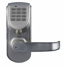 LockState LS-6600-R-S 200-Code Keyless Digital Door Lock, Right-Hand, Silver New