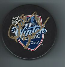 Dave BRANDON Signed Michigan Wolverines 2014 WINTER CLASSIC Puck