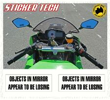 OBJECTS IN MIRROR STICKER DECAL 4 KAWASAKI APRILIA NORTON TRIUMPH MOTO GUZZI BMW