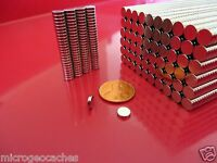 500 Strong Rare Earth Neodymium Disc Magnets 6 x 1.5mm (1/4 x 1/16 inch)