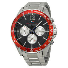 Tommy Hilfiger Luke Multi-Function Black Dial Stainless Steel Mens Watch 1791122