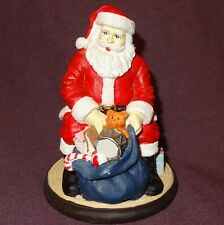 "Santa Claus Sitting with open bag of Toys Figurine 4"" Table Top  - Wal-Mart"