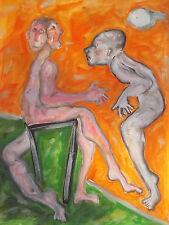 Tableau peinture Huile sur papier 50cm/65cm oeuvre originale A Picard ARTPRICE