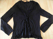 Comma Bella BOLERO CARDIGAN NERO M. volant Boho Tg. 44 Top 416