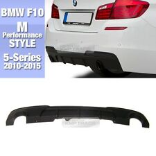 M Performance Style Rear Diffuser Dual Outlet Type For BMW 2010-2015 5Series F10