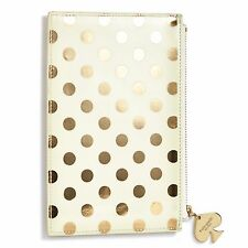 "KATE SPADE - Pencil Pouch -  Set - ""Gold Dot"" - Six Pieces Included!"