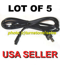 Lot of 5 NEW 6 ft POLARIZED AC Power Cord Laptop Cable TV PS2 XBOX