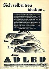 Adlerwerke Adler Frankfurt Reklame 1939 IAMA IAA Berlin Ad Werbung car