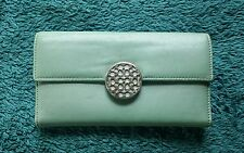COACH Light Blue Alexandra Leather Slim Bi-Fold Envelope Wallet F46148 EUC
