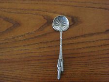 """DURGIN Antique Sterling Silver CAT TAILS CHOCOLATE SPOON 4-1/8"""" VG    147"""