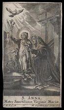 santino incisione 1700 S.ANNA engelbrecht
