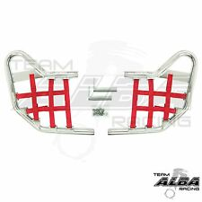 Yamaha Raptor 250 125  Nerf Bars Alba Racing  Silver bar Red nets     192 T1 SR