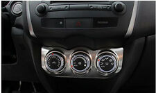 Stainless Air Condition Adjust Button Cover Trim For Mitsubishi ASX 2013 - 2015